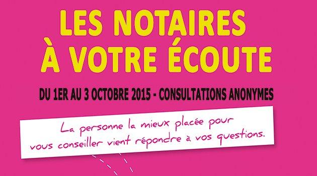 Les notaires consultent gratuitement début octobre !