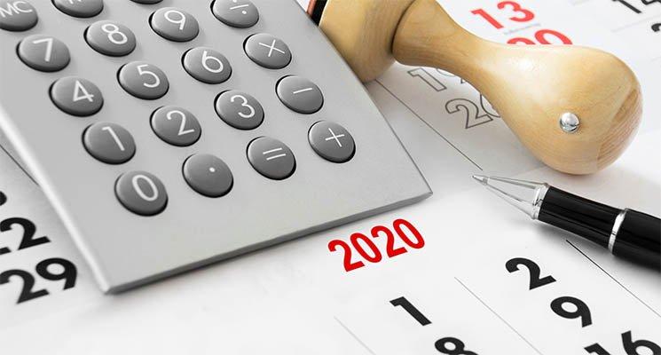 Impôts 2020 - Le calendrier du contribuable