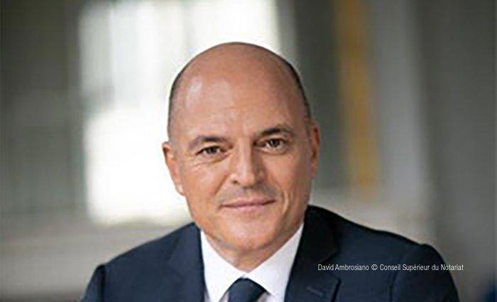David Ambrosiano - Nouveau Président du Conseil supérieur du notariat